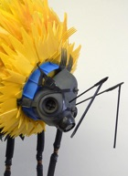 Recycled bumblebee sculpture by Michelle Reader